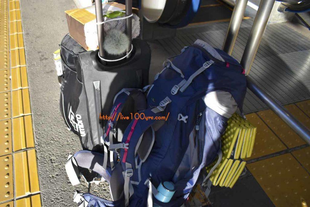 成田ゆめ牧場へ母子・冬・徒歩キャンプに行ったときの荷物です。