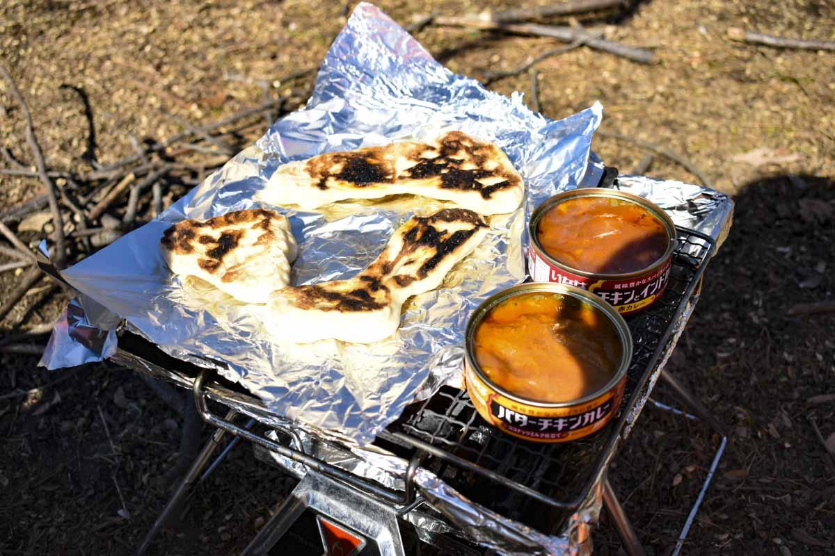 カレーの缶詰で一度に簡単キャンプ飯が作れる