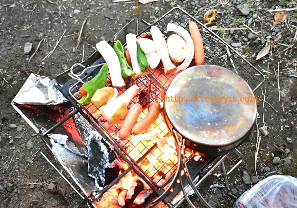 北本キャンプフィールド1日目の夕食作り