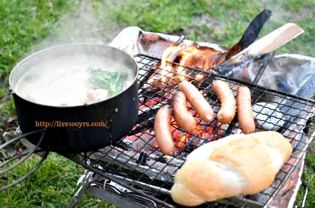 ソレイユの丘で調達した食材で夕ご飯