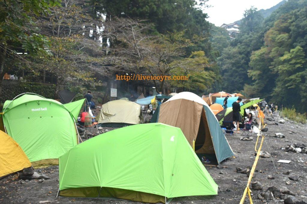 10月の氷川キャンプ場の混雑具合
