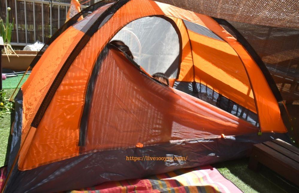 おうちキャンプで使用した二人用テント