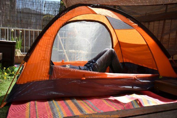 おうちキャンプのテント