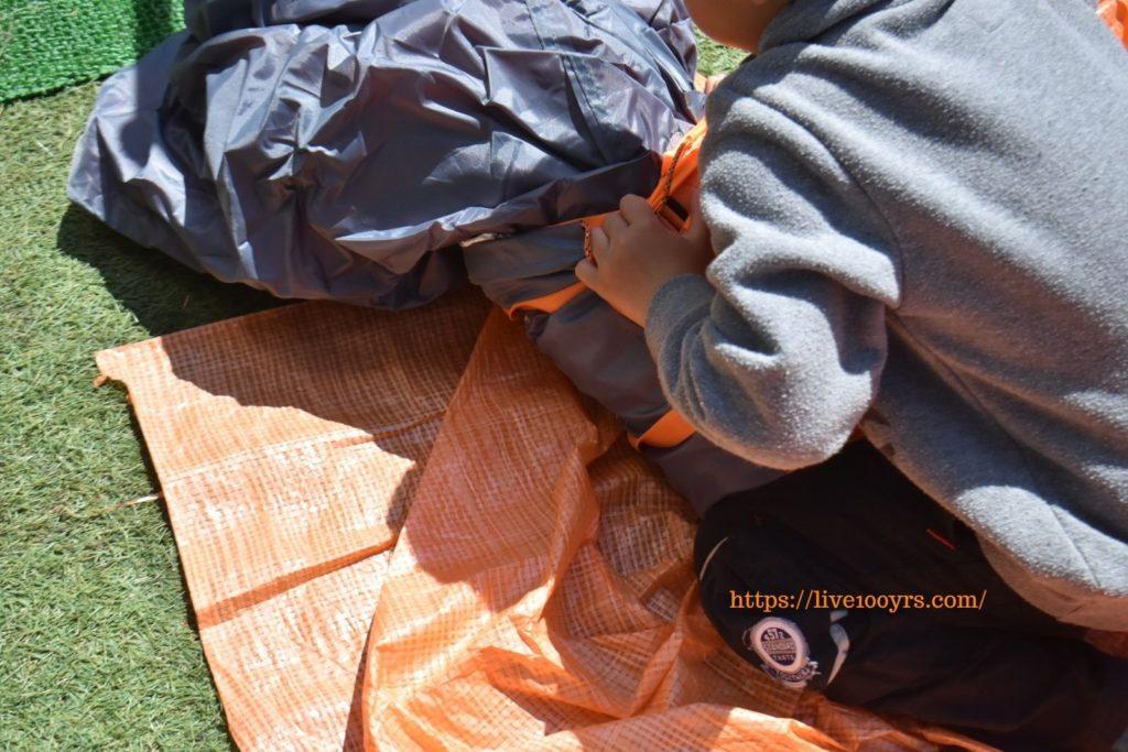 子供も手伝いやすいおうちキャンプ