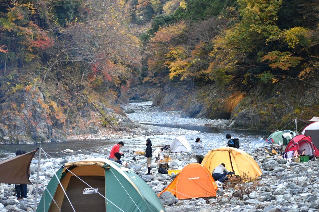 氷川キャンプ場11月の混雑状況