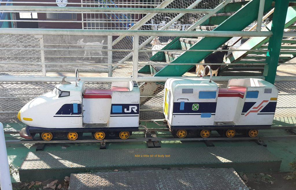 千葉県野田ポニー牧場内の電車の乗り物