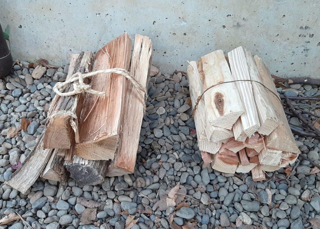 清水公園キャンプ場で購入した薪