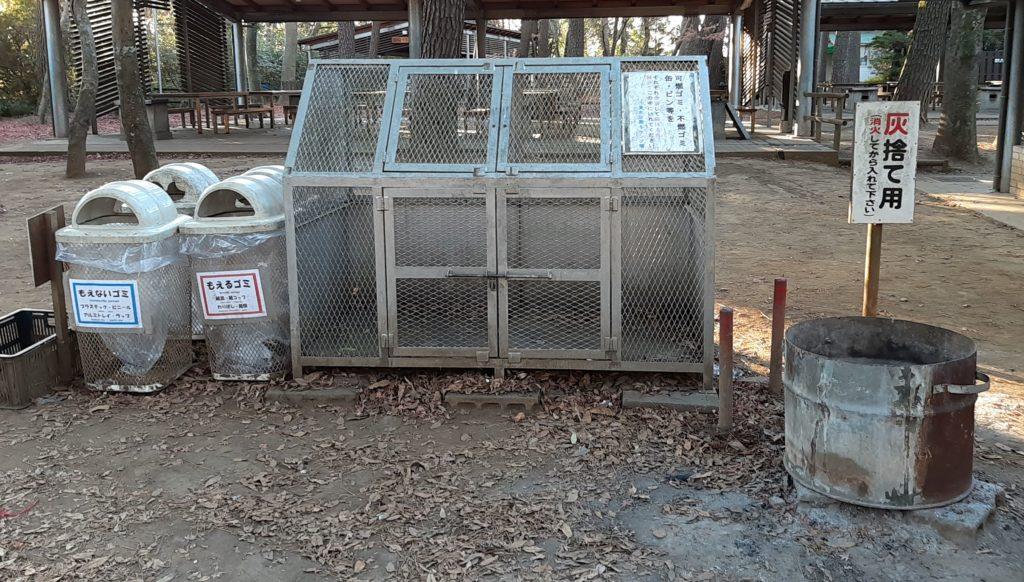 清水公園キャンプ場のゴミ捨て場