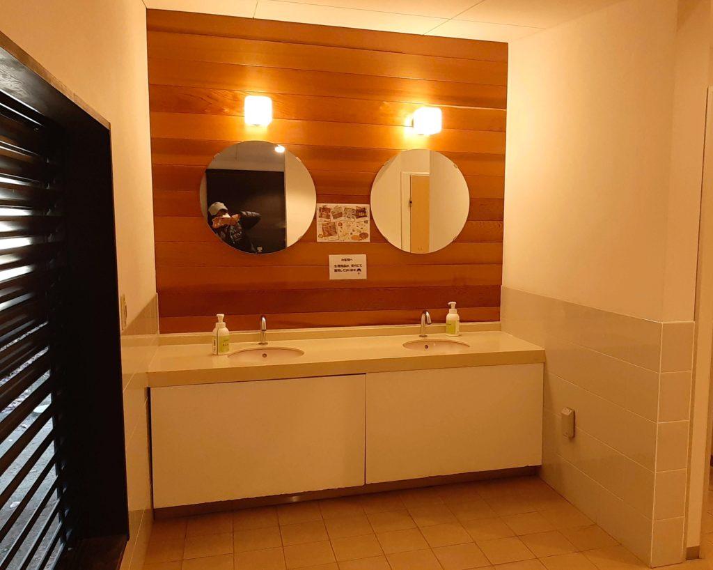 清水公園キャンプ場のトイレの手洗い場