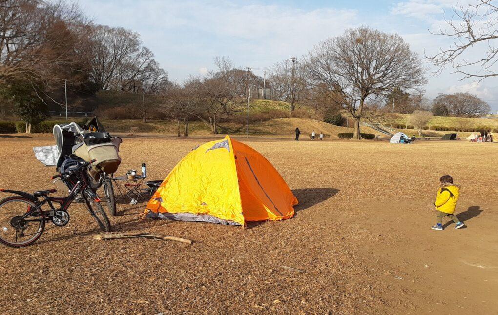 彩湖・道満グリーンパークで1歳児と母子デイキャンプ