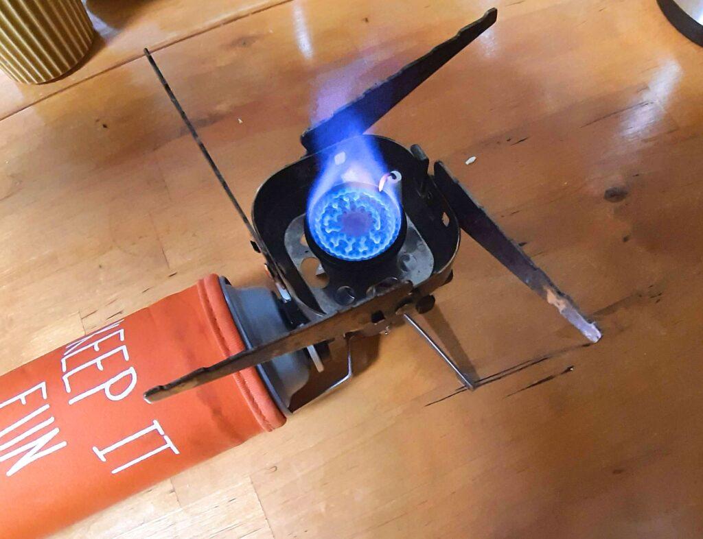 ホットサンドメーカーで肉まんを焼いたときの火加減