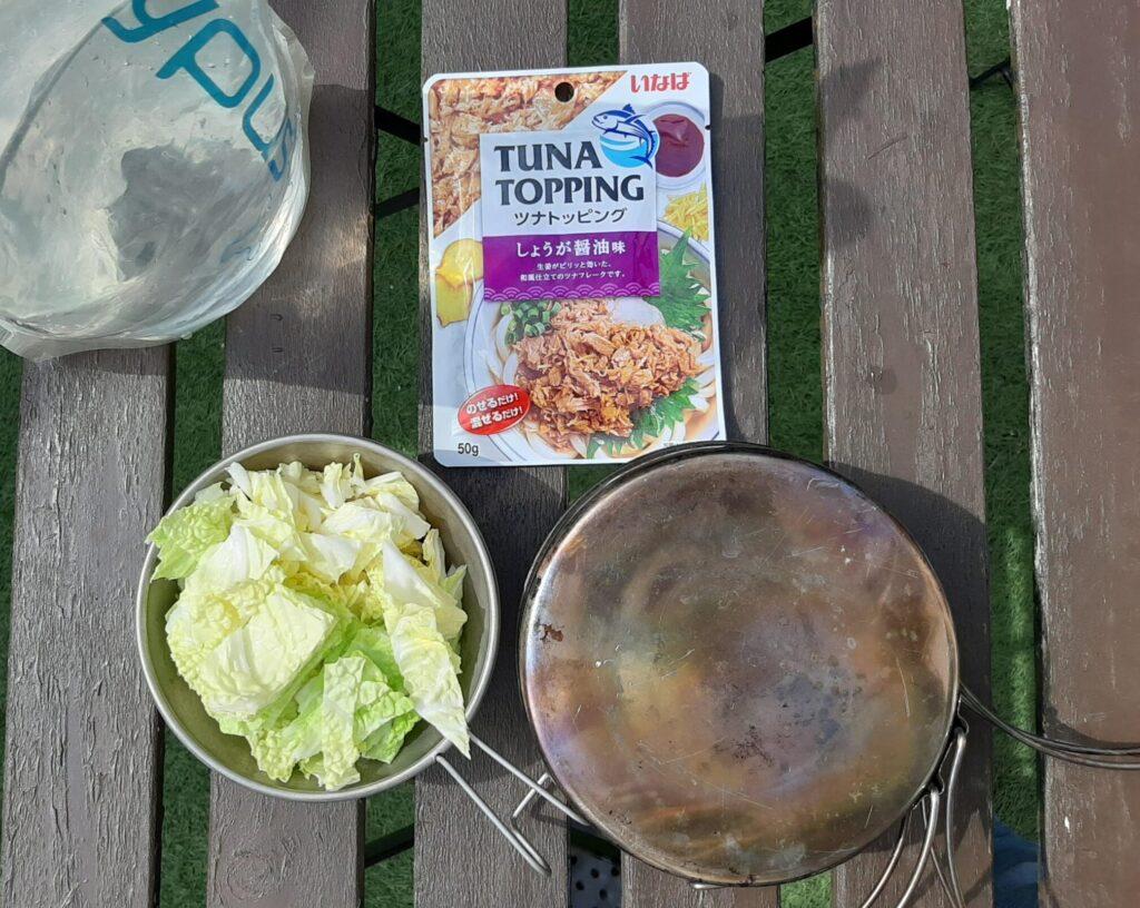 いなば食品のツナトッピングしょうが醤油と白菜和えのレシピ
