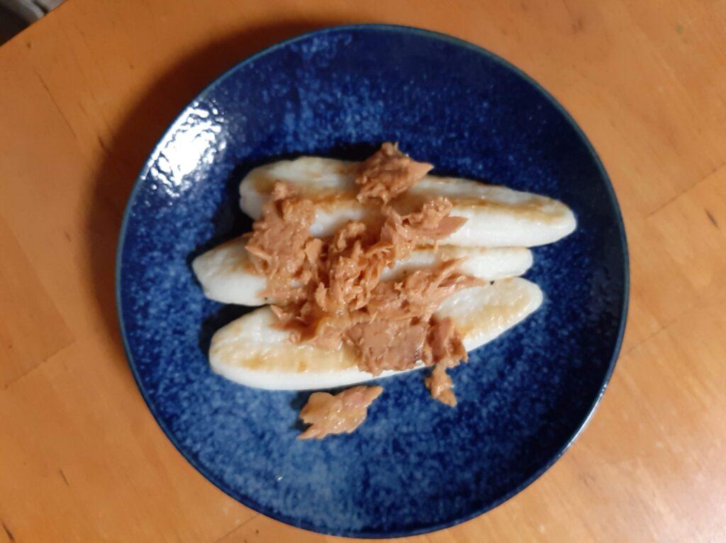 笹かまぼことツナトッピングのレシピ